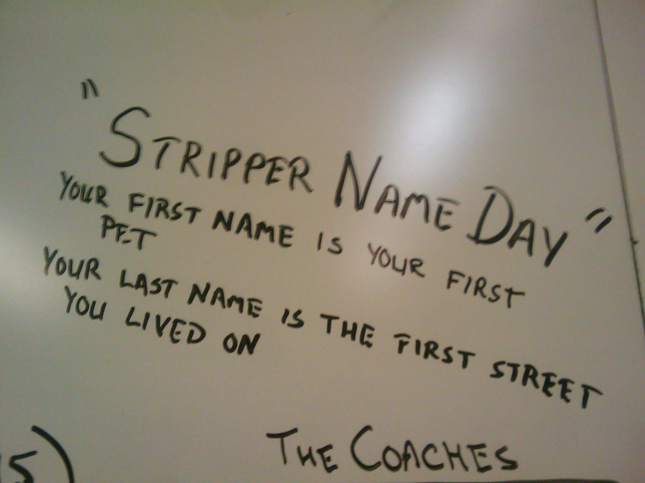 Good stripper names