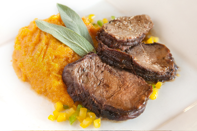 Roast Beef with Creamy Butternut Squash