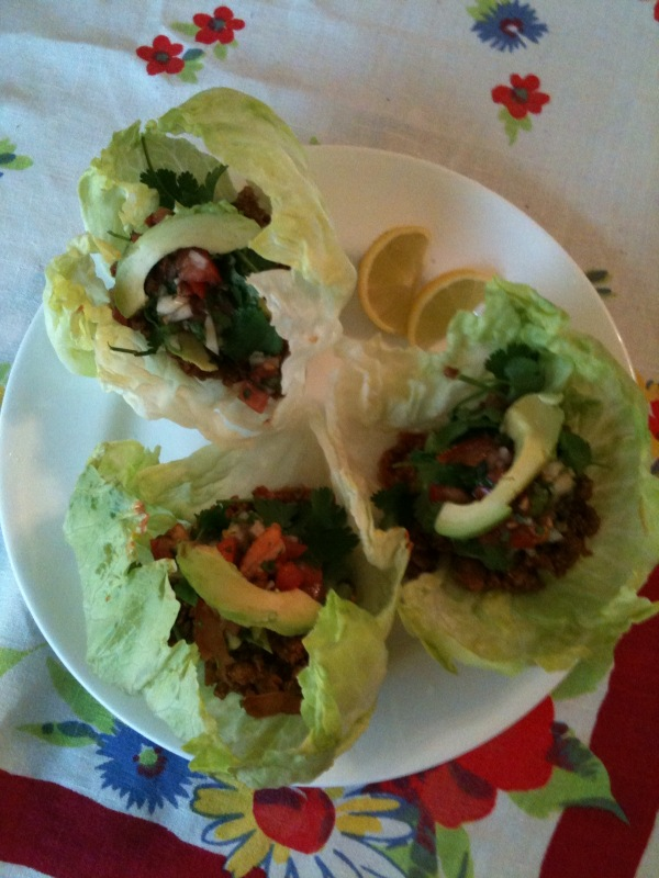 Paleo Turkey Tacos with Spicy Tomatoes