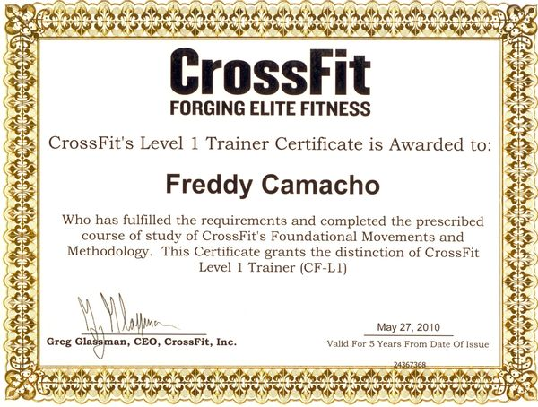 CrossFit One World: CERTIFIED!