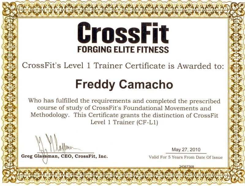 Crossfit One World Certified