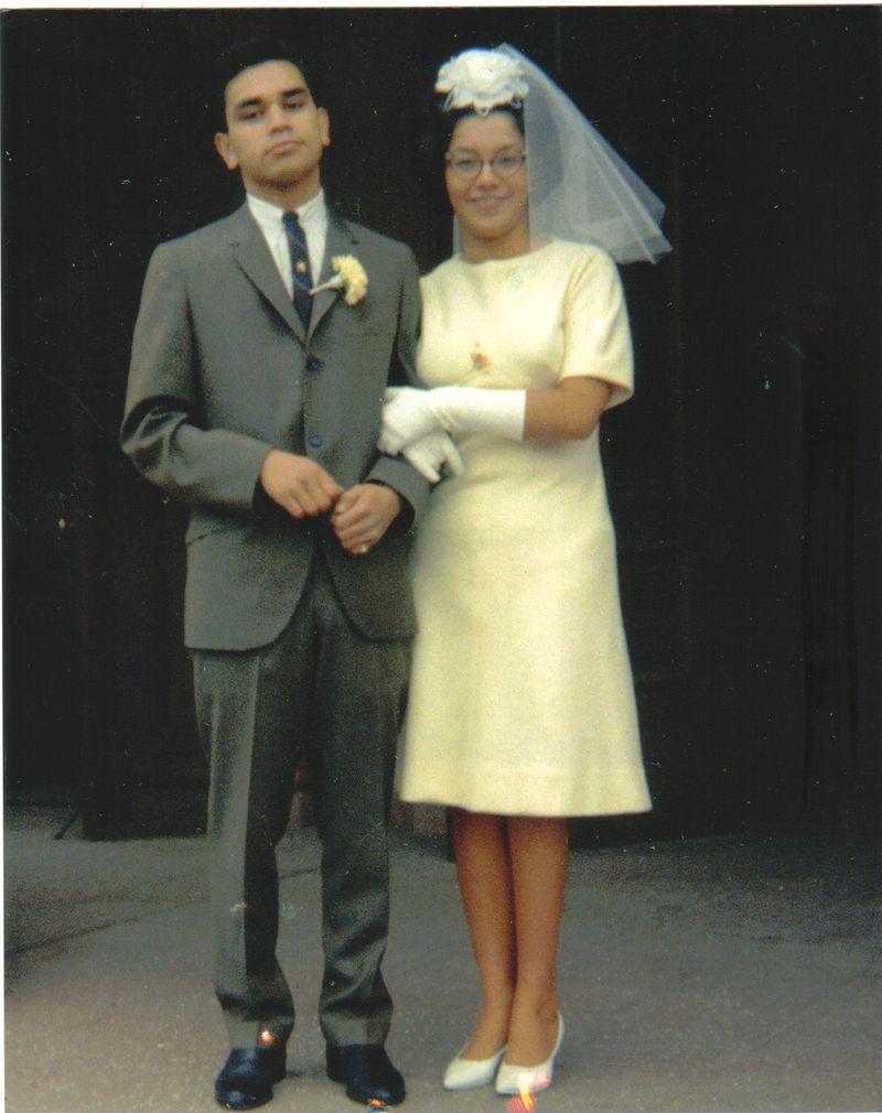 Mom and Dad Camacho- Wedding day