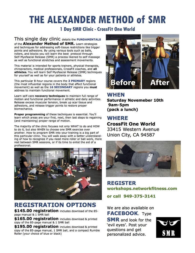 Sample flyer Crossfit One World 8 hour Clinic template